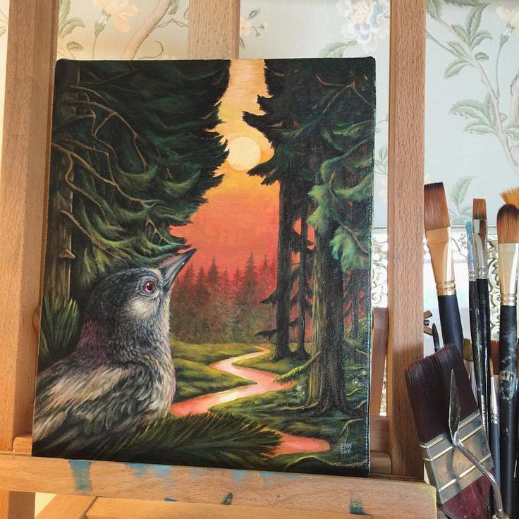 'Forest Whispers'. Oil on Belgian linen. Painting by Eeva Nikunen.