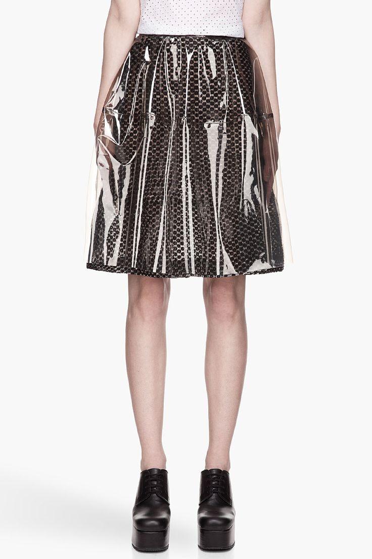 SIMONE ROCHA Sheer black Plastic Skirt