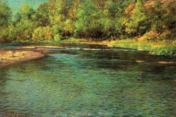 <b>«Iredescence of a Shallow Stream»,</b> 1902<br />Музей изящных искусств,Монреаль. 30x40.Холст, масло. Смирнова Е. 2013<br />Цена с багетом 9900р