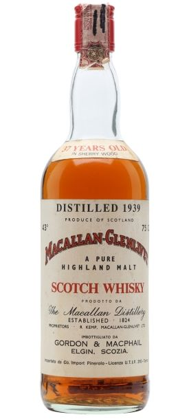 Macallan-Glenlivet 35 yo distilled in 1939 and bottled by Gordon & MacPhail for the italian market