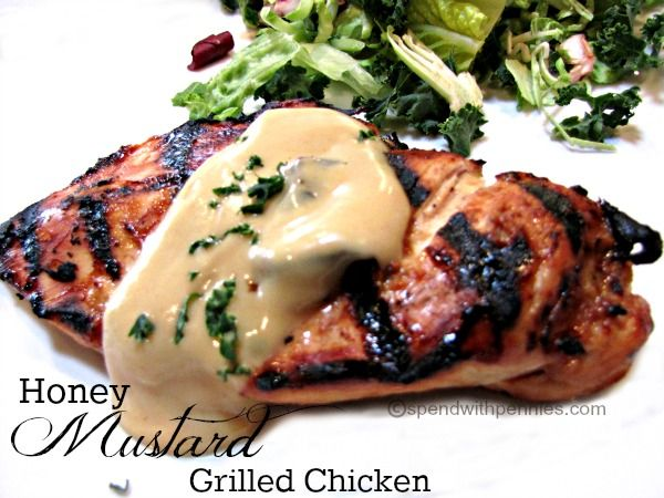 Honey Mustard Grilled Chicken! This delicious and juicy chicken is ...