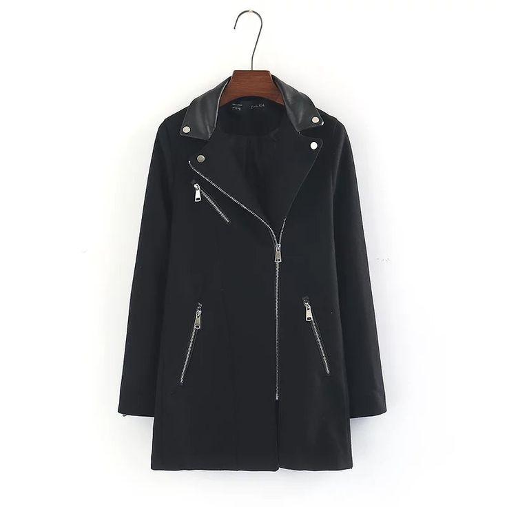 DS115 1840 Европа и соединенные Штаты моды молния райдер пальто 1224купить в магазине Yenisey HongKong StoreнаAliExpress
