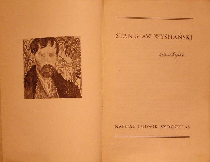 Ludwik Skoczylas STANISŁAW WYSPIAŃSKI Kraków 1932 #wyspianski #bookpunk