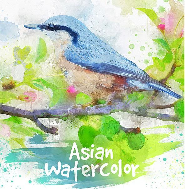 25 Watercolor Photoshop Actions For Painting Effect Watercolor