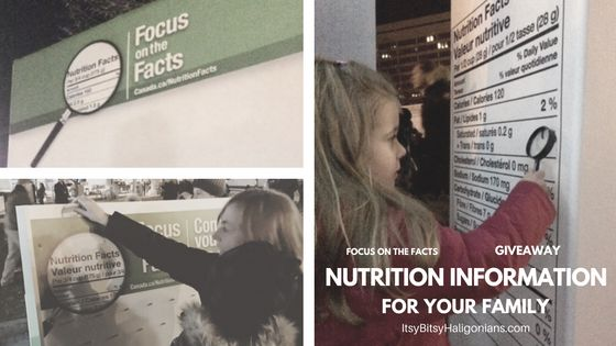 FOCUS ON THE FACTS: Nutrition Information For Your Family (Giveaway Closed) —