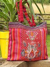 STRIKING LARGE INDIAN EMBROIDERED SHOULDER TOTE BAG HIPPIE BOHO GYPSY DREADS