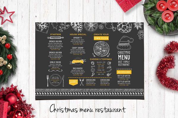 Food menu restaurant flyer 15 christmas pinterest food menu flyers and christmas - Christmas menu pinterest ...