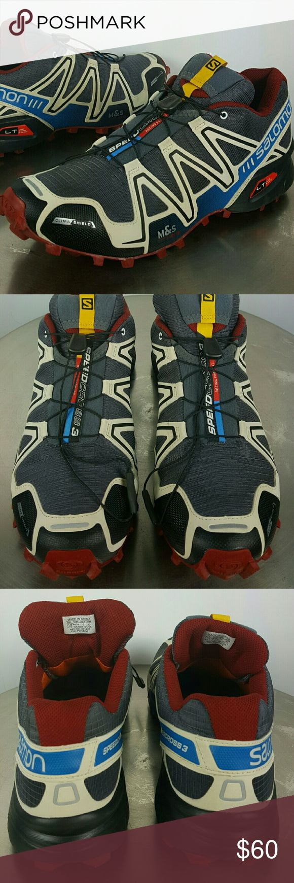 Salomon 3 SpeedCross Trail Shoes, Men's Sz 12 Nice Salomon 3 SpeedCross Trail Shoes in clean and great condition... Lightly Worn, Men's Size 12, shows very little signs of wear on the nice sole... Salomon  Shoes Athletic Shoes