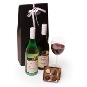 Indulge your naughty side and dive into this box of Indulgence chocolates and this stunning Australian McGuigan double by award winning winemakers - McGuigan Estate.  #ChristmasShopping   #ChristmasGiftHampers   #ChristmasGifts   #WineLovers