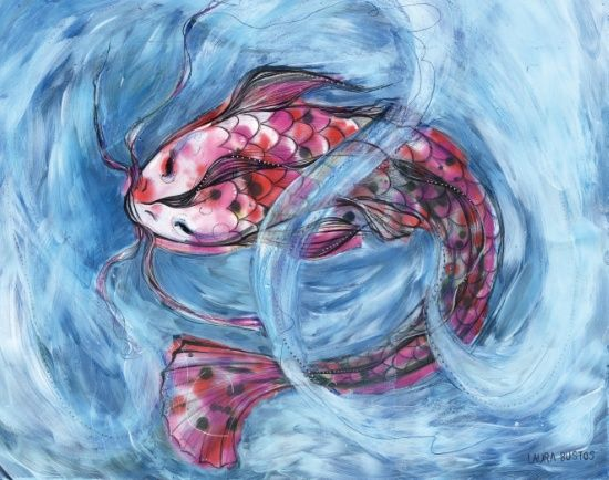 Koi Art Print #print #prints #printsforsale #printshop #laurabustosilustracion #laurabustos #draw #drawings #nice #cute #artdrawing #art #inked #ink #acrilico #oil #illustration #illustagram #ilustración #artprint #society6 #society6art #society6shop #society6artist #koi #carpa #fish