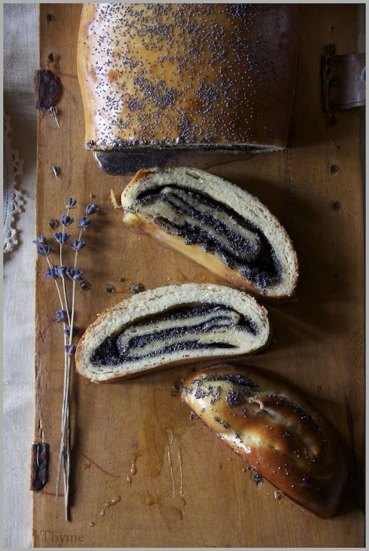 Delicious looking poppy-seed sweet loaf. Must try this recipe.