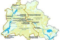 kaart Berlijnse Muur