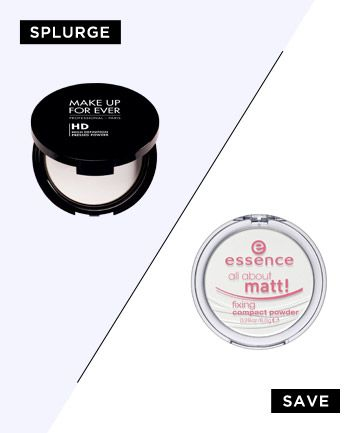 Make up forever HD powder dupe > Essence all about matt
