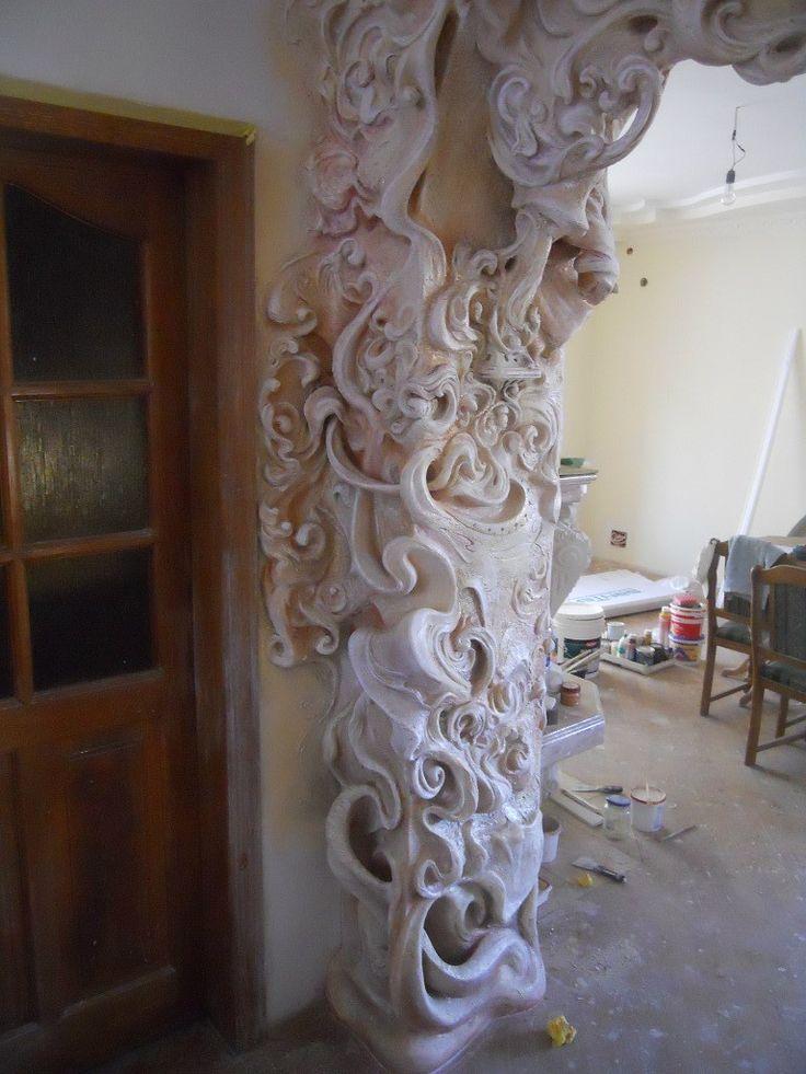 998 best plaster images on pinterest plaster murals and for Plaster wall art