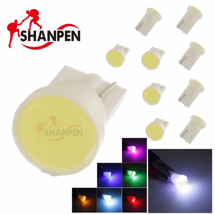 10pcs Ceramic Car Interior LED T10 COB W5W Wedge Door Instrument Side Bulb Lamp Car Light Blue/Green/red/Yellow/Pink Source 12V ** Click the image to view the details