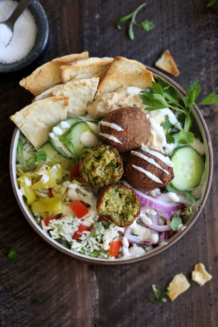 "Mediterranean Falafel Bowl with ""Tabbouleh"" Rice recipe from Cooking with Cocktail Rings #recipe"
