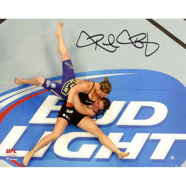 "Ronda Rousey Ultimate Fighting Championship Fanatics Authentic Autographed 8"" x 10"" Overhead Headlock Photograph - $99.99"