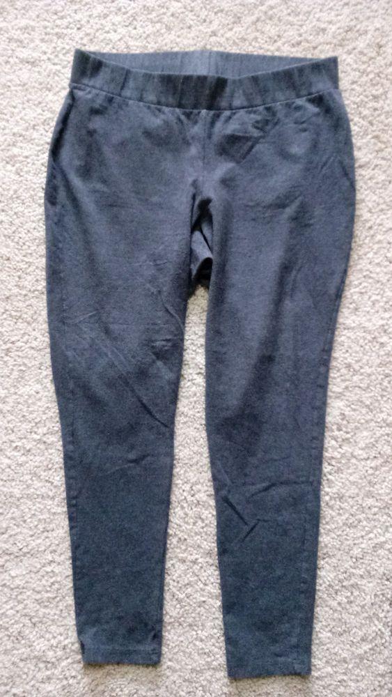 Torrid Leggings Size 2 Heathered Gray Cotton/Spandex #Torrid