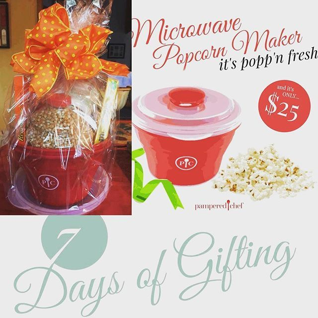 On the 2nd day of gifting my fav aunt gave to me- a popcorn maker I can use with ease! Make stove top popcorn in the microwave! No eating chemicals, dishwasher safe, and collapses for storage! What a cute gift idea for ANYONE! Message me to order! Facebook.com/pamperedmorgan #kitchentools #cookingfun #giftideas #movienight #kidsfun  Yummery - best recipes. Follow Us! #kitchentools #kitchen