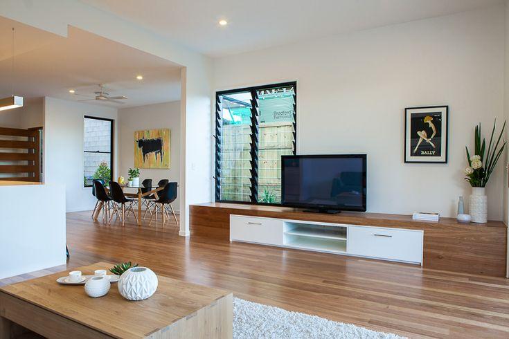 Built-in TV joinery - kalka display home Kedron
