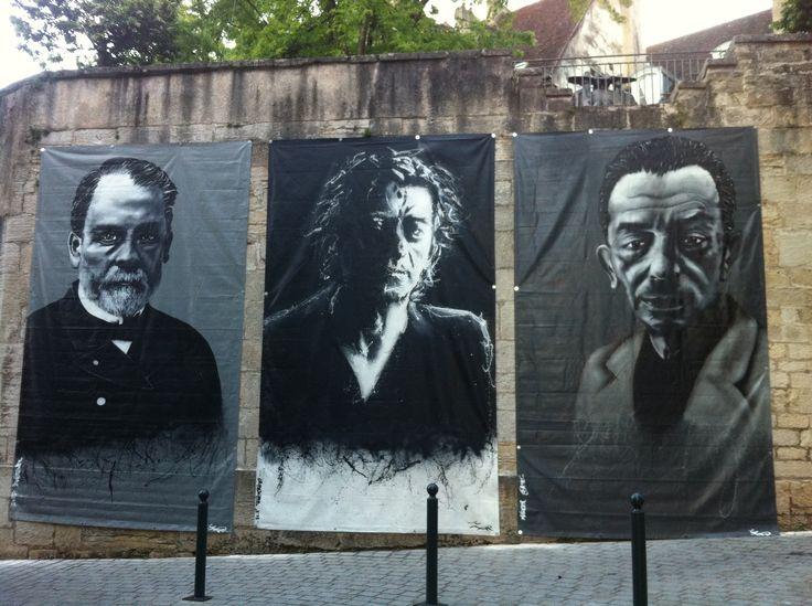 """Exhibition """"La griffe du chat"""" Louis pasteur; Hubert-Félix Thiéfaine; Marcel Aymé"""