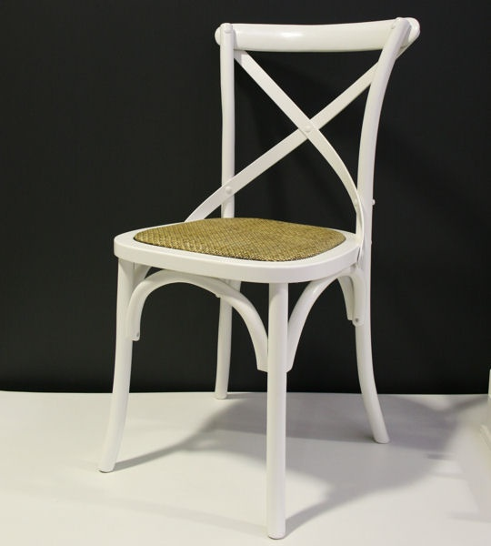 Kitchen Stools Adelaide: Georgia Cross-Back French Provincial Cafe Dining Chair