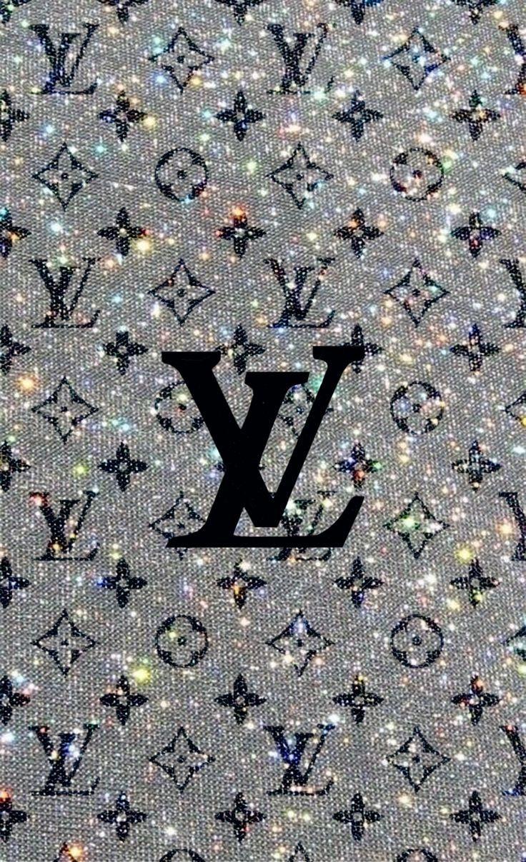 Aesthetic wallpaper reminiscent of spring. Lv Logo ; Lv | Glitter wallpaper, Edgy wallpaper, Iphone