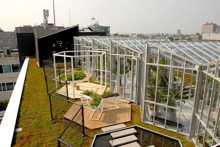 Roof park on top of hotel Zoku