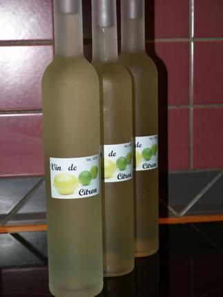 recette Vin de Citron (limoncello)