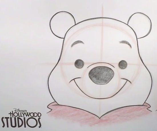 Fun Video Tutorial - Learn to Draw Winnie The Pooh at Disney's Hollywood Studios