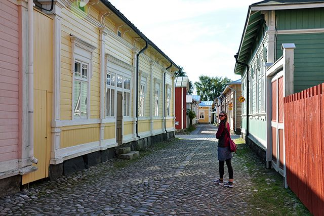Old Rauma, a UNESCO World Heritage Site in western Finland.