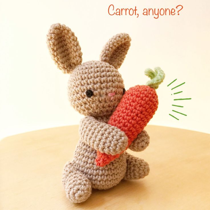 4621 best bunny rabbit lovers images on pinterest bunny rabbits bunny crochet amigurumi holding a carrot bunny crochet toy bunny gift for kids bunny baby gift bunny gift easter decoration negle Images