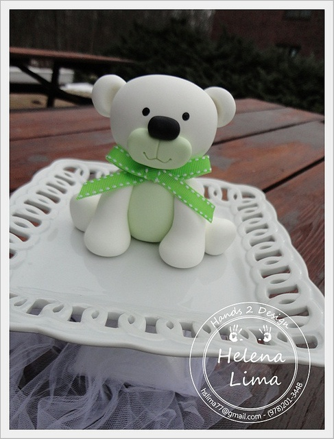 White Bear Green Bow | Flickr - Photo Sharing!