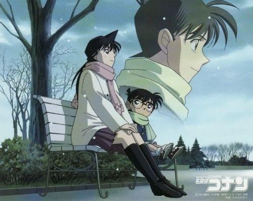 Detective Conan || Ran, Conan, and Shinichi <3
