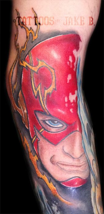 the flash tattoo part of a dc sleeve tattoos by jake b tattoos by jake b pinterest. Black Bedroom Furniture Sets. Home Design Ideas
