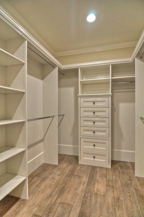 Walk-in closet shelving