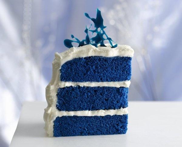 blue cakeWhite Cake, Cake Recipe, Food, Red Velvet, Blue Cakes, Bluevelvet, Blue Velvet Cakes, Royal Blue, Birthday Cake