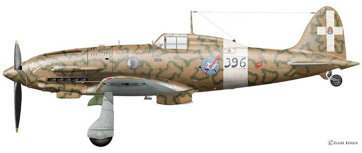 "Macchi C.202 ""Folgore""  Flown by Sergante Loris Baldi, 154 Gruppo Gadurrà/Rodes/Greece, summer 1943."