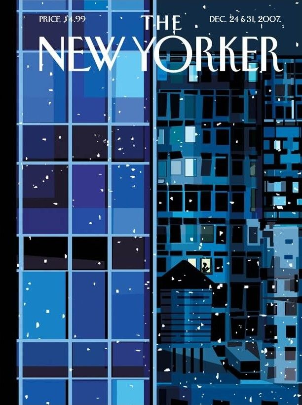 "The New Yorker - Monday, December 24, 2007 - Issue # 4244 - Vol. 83 - N° 41 - « Winter Fiction Issue » - Cover ""Urban Landscape"" by Kim DeMarco"