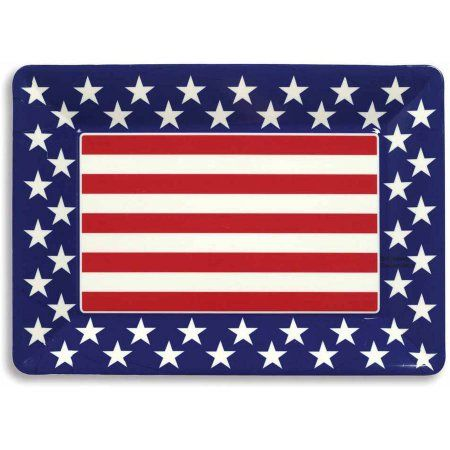 Patriotic 14 inch x 10 inch Plastic Tray, Assorted