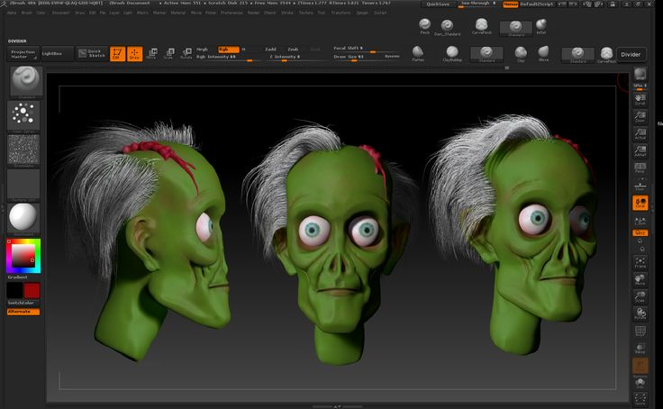 Zombie  Zbrush modeling head