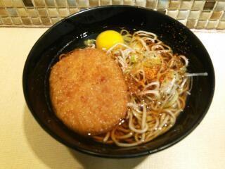 コロッケ蕎麦【croquette soba】
