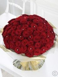 Ultimate 100 Red Rose Hand-tied