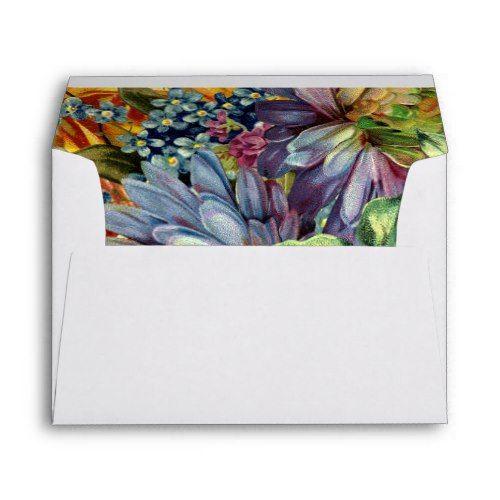 Reminiscence | Modern floral ampersand wedding Envelope
