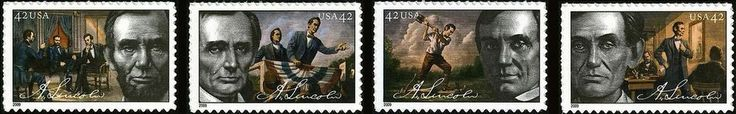Lincoln 2009 Anniversary 4-Issues - Presidents of the United States on U.S. postage stamps - Wikipedia