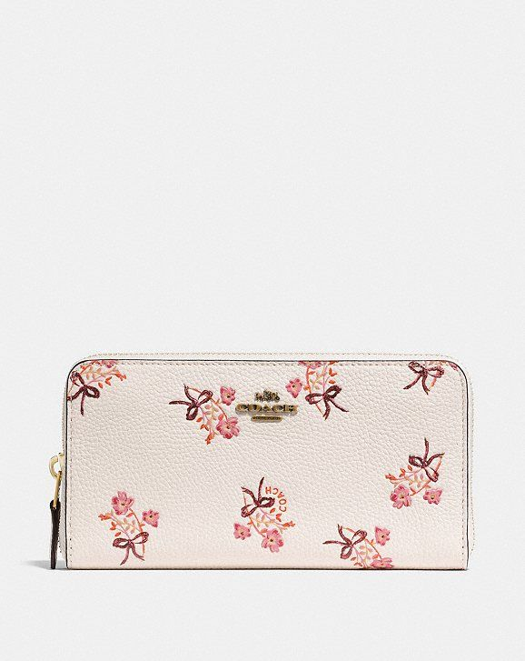 0b0db960a02 Accordion zip wallet with floral bow print in 2019 | In the Bag ...