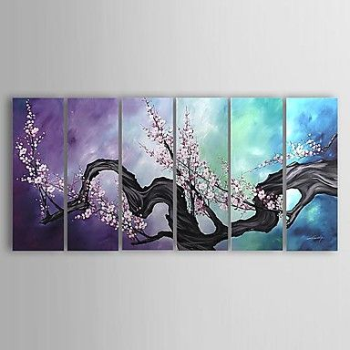 Subjects: Abstract, Floral.  Artists: Other Artists.  Sizes: Oversized.  Color Scheme: Cool Colors.  Material: Canvas.  Hang In: Living Rooms, Bedrooms, Nurseries, Offices, Cafes, Hotels.  Dimensions: 36in. H x 12in. W x6pc(91x31cm x6pc).  Shipping Weight(kg): 4.5.
