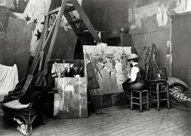 Toulouse-Lautrec in His Studio