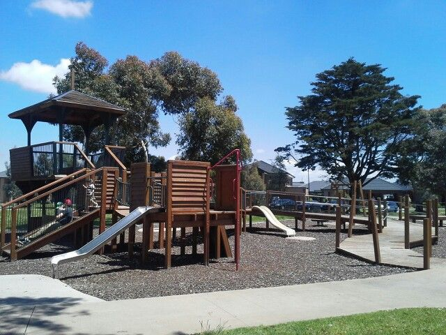 Treehouse Park, Elms WayCraigieburn. Tennis courts also here for older kids/adults