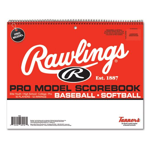 Rawlings Pro Model 10 Position Baseball/Softball Scorebook PMSB